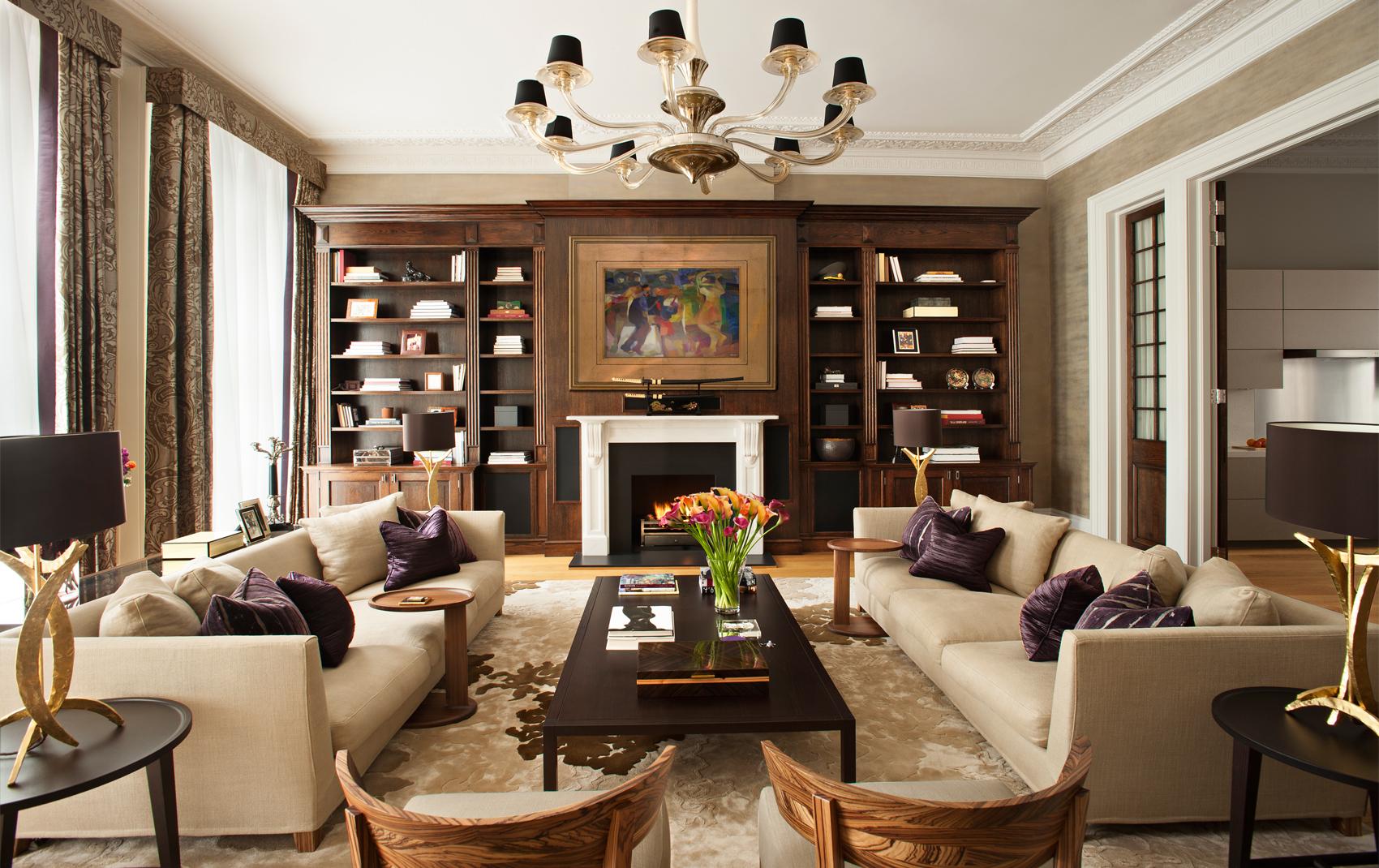 Fireplaces · Luxury Penthouse Interior. Interior Design