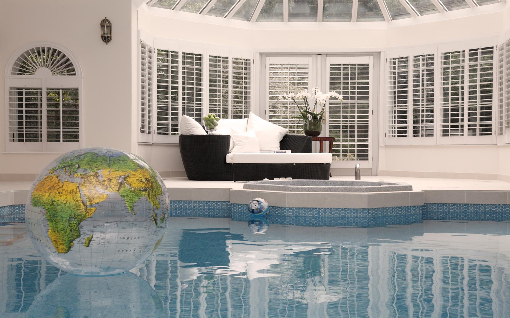 luxurious indoor swimming pool designed by top london interior designer rene dekker