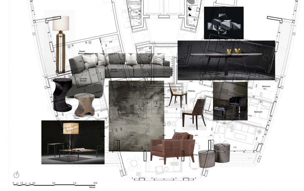 10 step guide to a successful interior design by René Dekker - Scheme layout