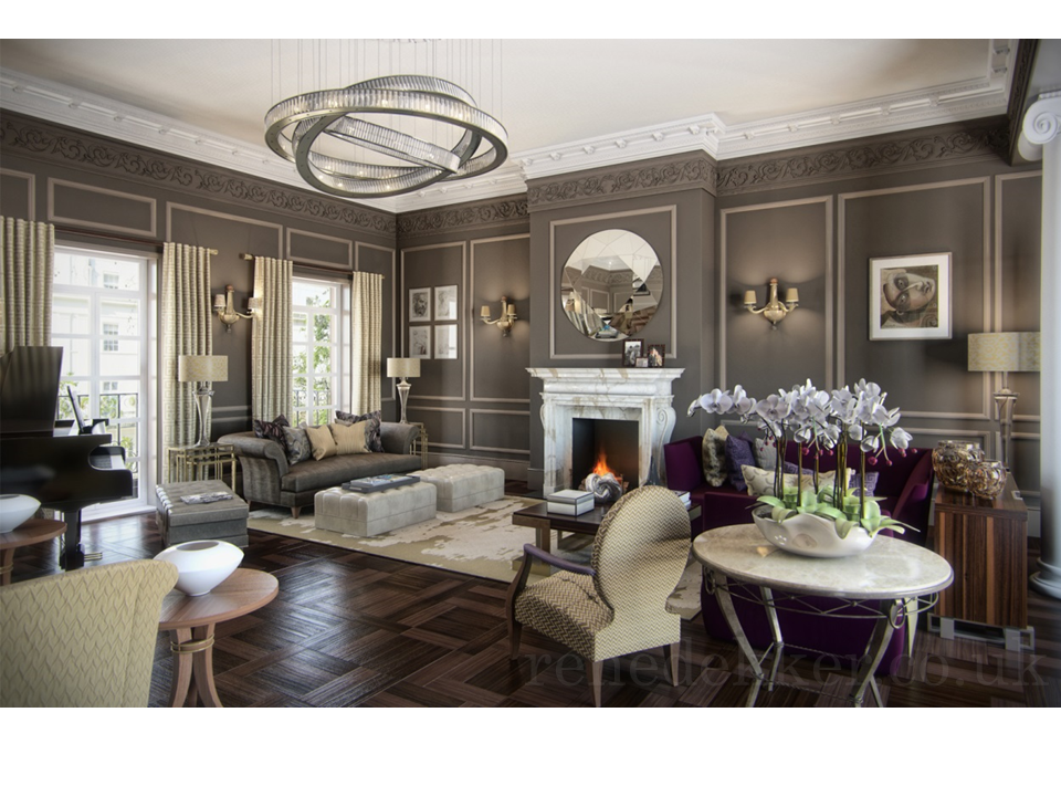 New york style interior design by rene dekker for Victorian villa interior design