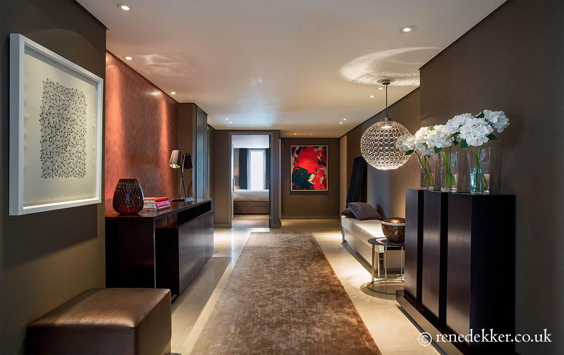 1 West London Penthouse chic entrance hall