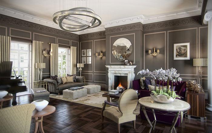 Marble and luxury interior design