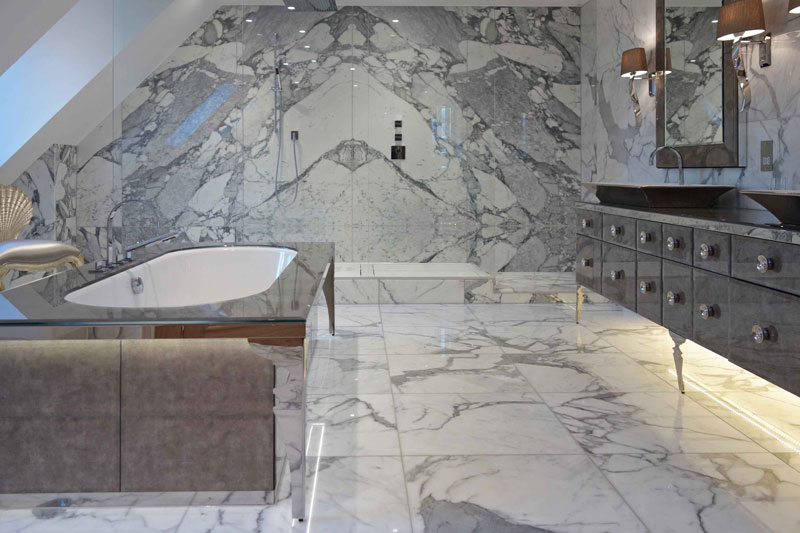 Marble Bathroom Shower Design