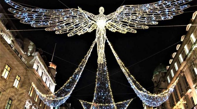 Outdoor Christmas decoration angel