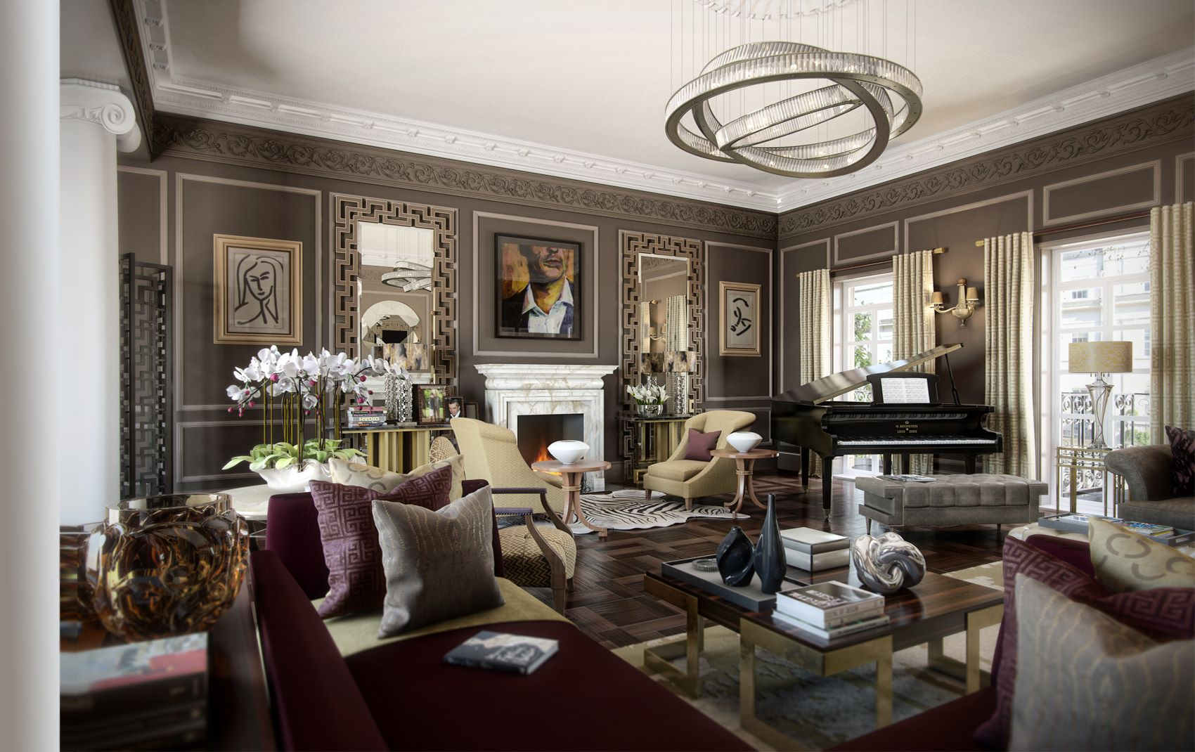 luxury great room design