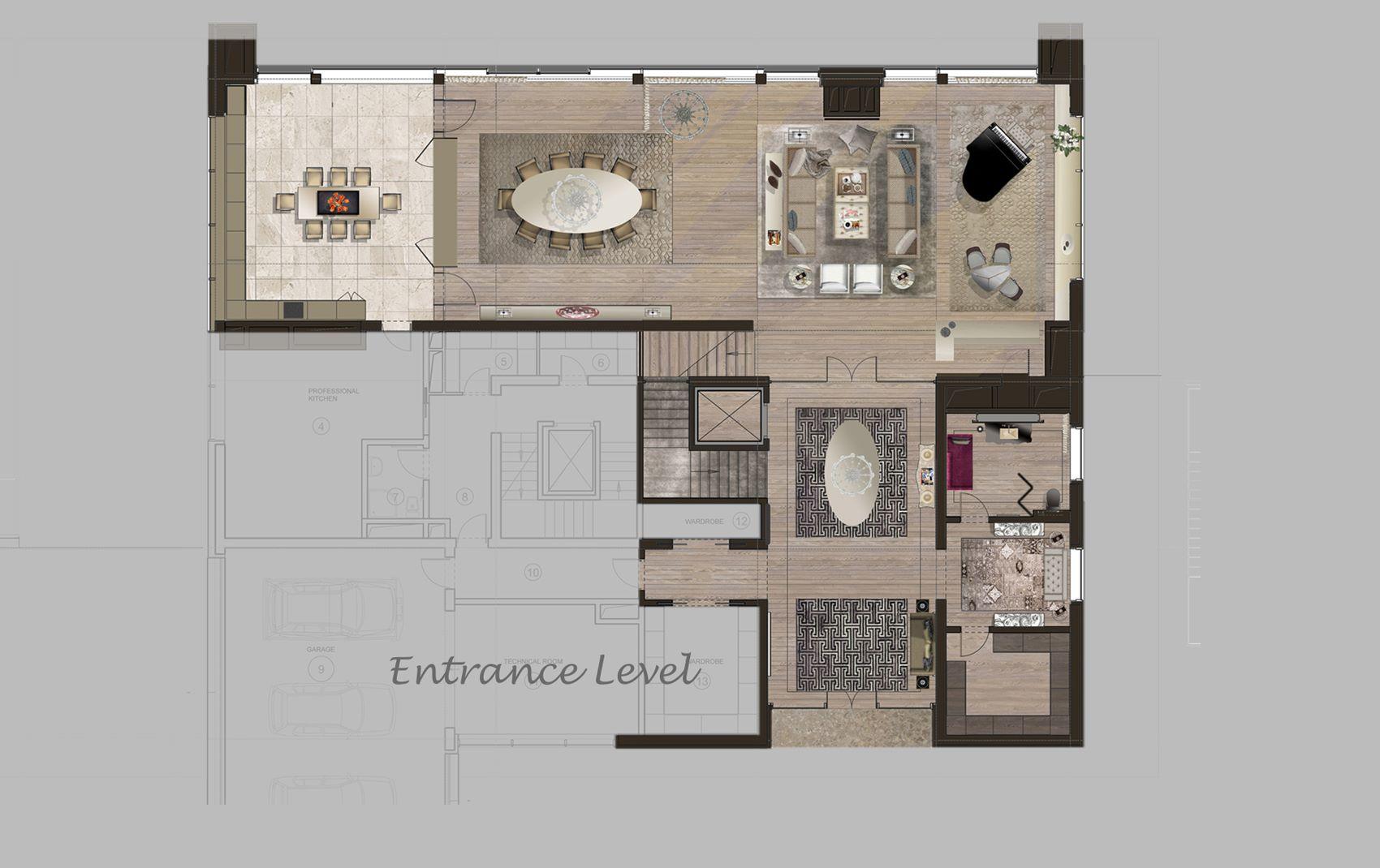moscow villa - luxury interior layout