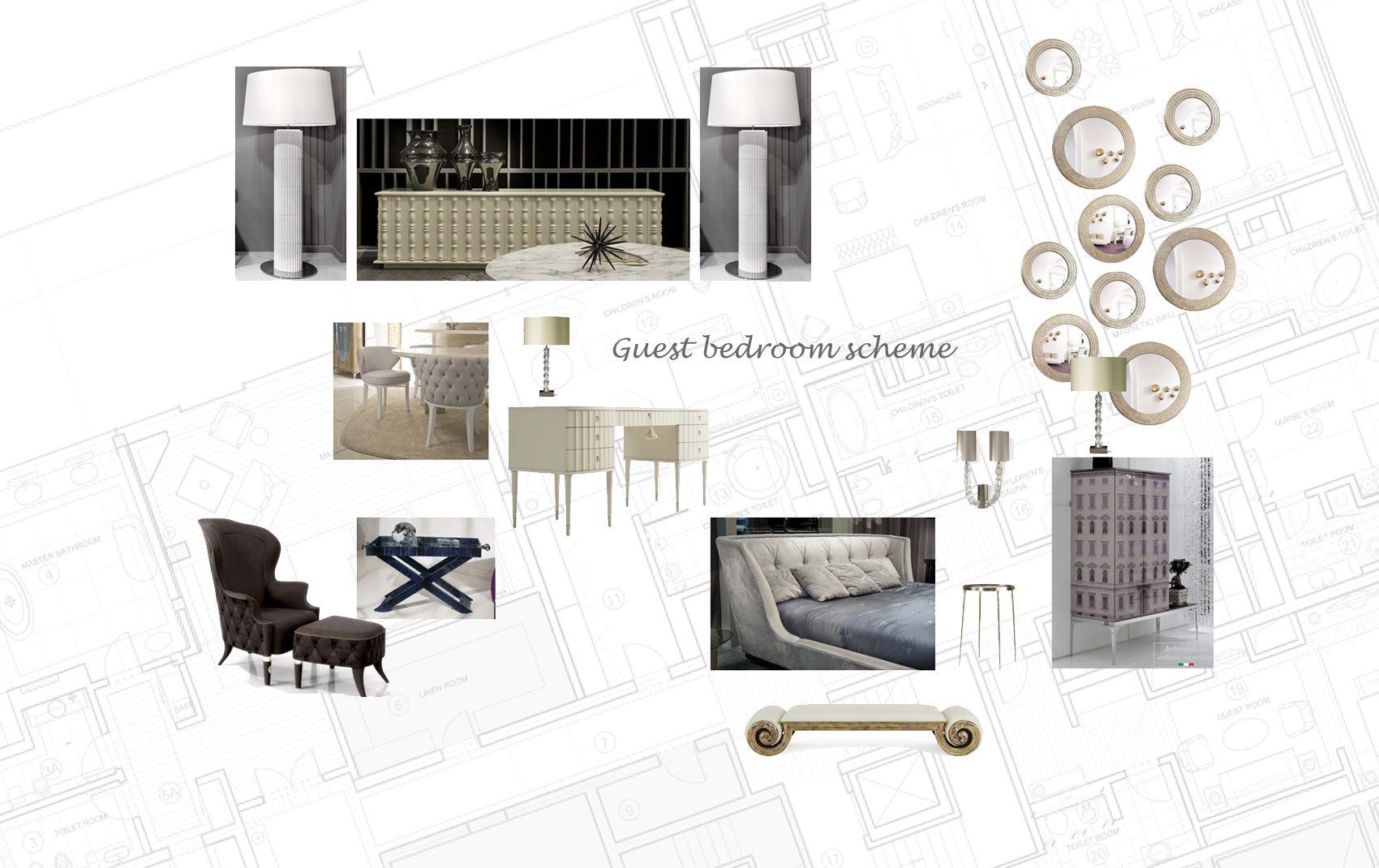 moscow villa - guest bedroom scheme