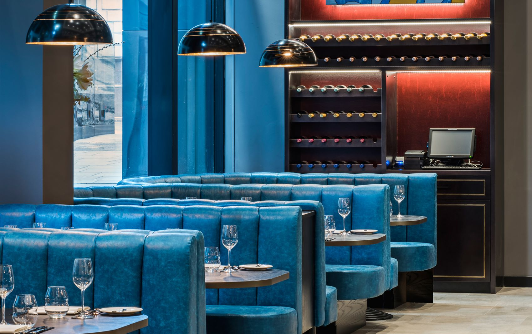m restaurant - restaurant interior design london