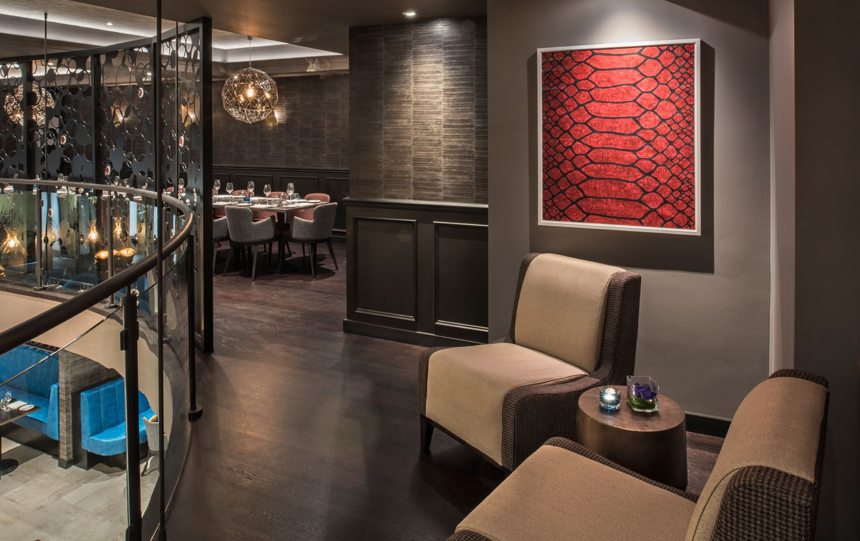 luxury restaurant design - m restaurant uk