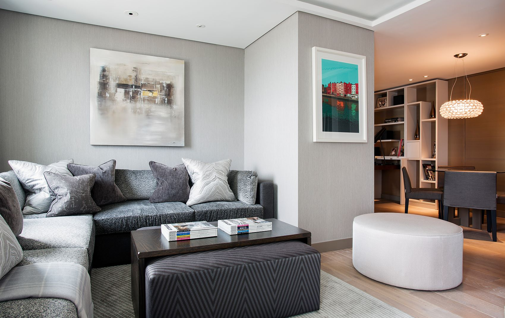 west london penthouse - corner nook with coffee table