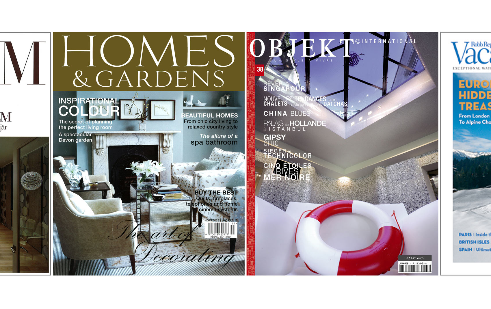 Featured in Home & Gardens and Objekt magazines