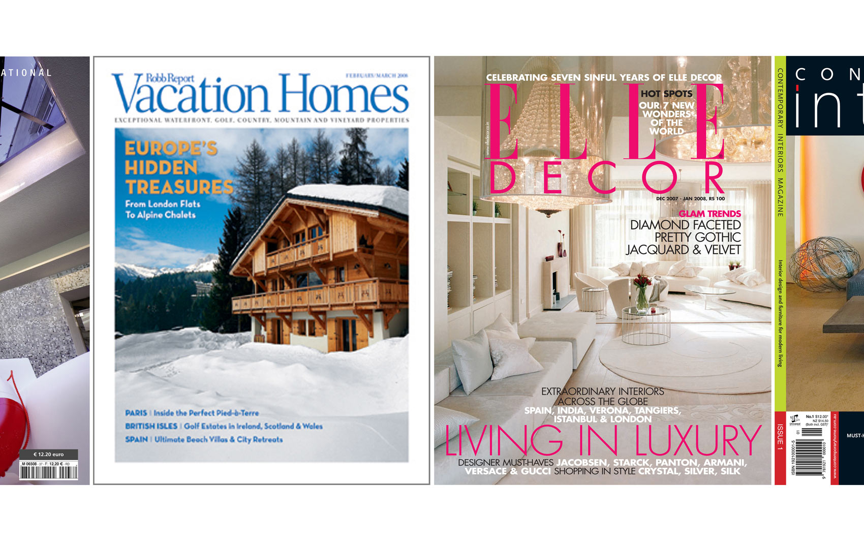 Vacation Homes and Elle Decor Magazine