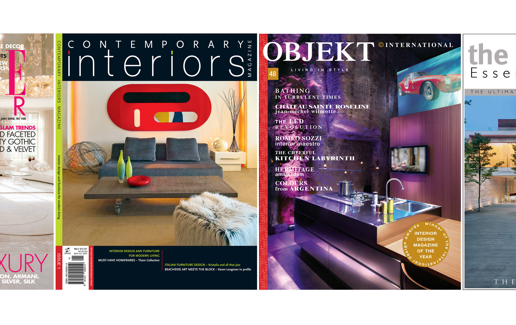 Featured in Objeckt and Contemporary Interiors