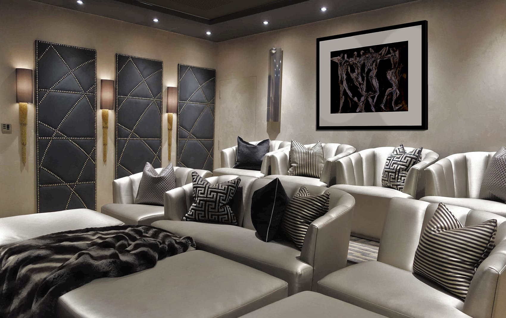 Interior Designers London | Luxury Interior Designer Theatre Room | Rene Dekker Design