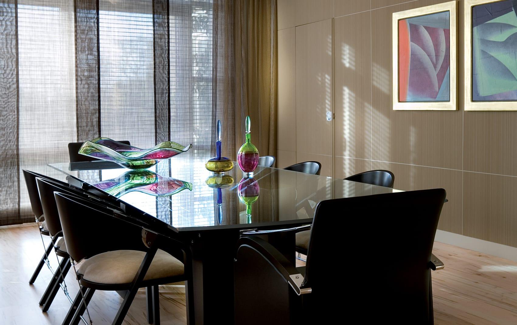 luxury interior dining room table
