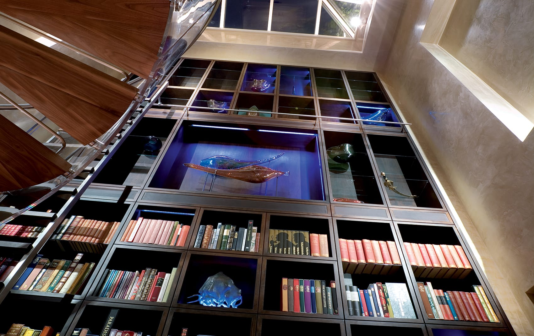 luxury interior bookshelf