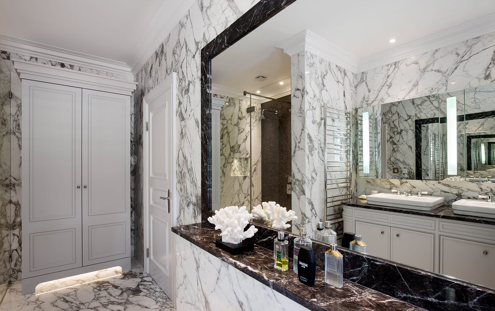 Luxury marble bathroom design London